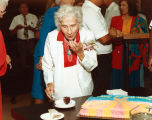 Photograph/color image of Polly Rosenbaum, an Arizona State Representative at a reception in...