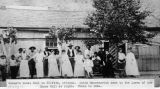 Photograph of Anton Mazzanovich, staff and dance hall women at the Hovey Dance Hall in Clifton...