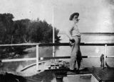 Photograph of Ike Polhamus, a steamboat operator on the Colorado River at Yuma (Ariz.)