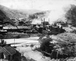 Photograph of a smelter operating in Clifton (Ariz.)