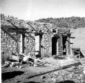 Photograph of the ruins of the Burfine Hotel in the ghost town of Gillette (Ariz.)