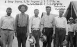 Photograph of men sent to Columbus (N.M.) during the Bisbee Deportation.
