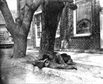 Photograph of derelicts asleep on the streets of Prescott (Ariz.)