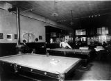 Photograph of billiard tables in the Wellington Saloon in Globe (Ariz.)