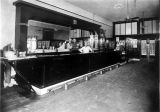 Photograph of the bar at the Wellington Saloon in Globe (Ariz.)