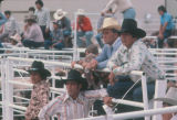 Photograph of riders at a rodeo at the Arizona State Fair in Phoenix (Ariz.)