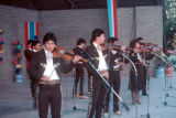 Photograph of a Mariachi band performing at a Tucson (Ariz.) festival.