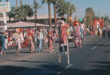 Photograph of clowns at the Fiesta Bowl Parade in Phoenix (Ariz.).