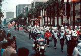 Photograph of a float at the Fiesta Bowl Parade in Phoenix (Ariz.).