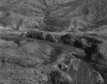 Photograph/aerial view of San Domingo Wash Bridge near Littlefield (Ariz.).