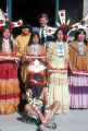 Photograph of Governor Bruce Babbitt posing with Hopi dancers at the Arizona State Capitol in...
