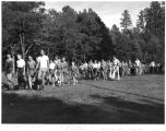 Photograph of a group of Boy Scouts on a hike at Camp Geronimo, near Payson (Ariz.)