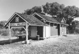 Photograph of the railroad station in Skull Valley (Ariz.).