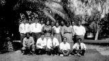 Photograph of staff at the Sacaton Indian School in Sacaton (Ariz.).