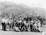 Photograph of Hilltop School pupils and teacher group outside.
