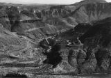 Photograph/aerial views of United States Highway 60 in the Salt River Canyon (Ariz.).