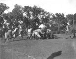 Photograph of a football game between Tempe Normal School (now Arizona State University) and an...