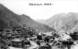 Photograph of the mine and town at Metcalf (Ariz.).