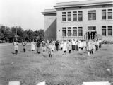 Photograph of physical education at Adams School in Phoenix (Ariz.).