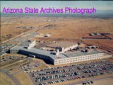 Photograph/aerial view of Greely Hall, the USASTRATCOM headquarters at Fort Huachuca (Ariz.).