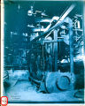 Photograph/cyanotype of the inner working of a refinery in Douglas (Ariz.).