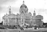 Photograph/artist rendering of a proposed architectural design for the Arizona Territorial Capitol...