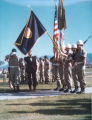 Photograph of military formations during a visit by Arizona Governor Jack Williams at Fort...