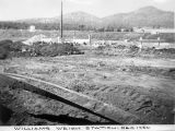 Photograph of construction of the weigh station at Williams (Ariz.).