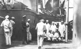 Photograph of navy life aboard the Battleship U.S.S. Arizona.
