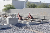 Photograph of light rail construction for a rapid transit system in Phoenix (Ariz.).