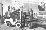 Photograph of downtown construction in Phoenix (Ariz.).