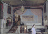 Photograph of the interior of the Bird Cage Theatre in Tombstone (Ariz.).