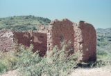 Photograph of adobe ruins at a ghost town in Pinal County (Ariz.).
