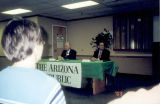 Photograph of a Phoenix City Council candidate debate at Sunnyslope High School in Phoenix (Ariz.).