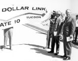 Photograph of the opening of Interstate Highway 10 between Phoenix and Tucson (Ariz.).