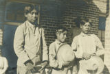 Photograph of children at the Tucson Indian Boarding School in Tucson (Ariz.).