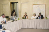 Photograph of an annual meeting of the Friends of the Arizona Archives at the State Capitol in...