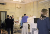 Photograph of a planning meeting for the construction of a new Archives Building at the Capitol in...