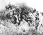 Photograph of United States Cavalry troops and scouts, taken during the Indian wars in...