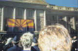 Photograph of the inauguration of Governor Jane Hull at the Arizona State Capitol in Phoenix...