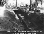Photograph of ditch construction on Yuma Road in Tolleson (Ariz.),
