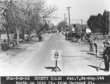 Photograph of construction on 16th Street at Harvard Street in Maricopa County (Ariz.) in 1934