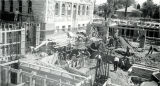 Workmen constructing the basement of the 1938 Arizona Capitol Addition
