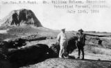 Photograph of (left to right) Governor George W.P.  and caretaker William Nelson at Petrified...