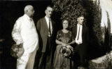 Photograph of (left to right) Arizona Governor George W.P. Hunt, Mr. & Mrs. Sam King and Sam...