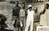 Photograph of (left to right) Hugh Wills, T.B. Johnson, Arizona Governor George W.P. Hunt and Art...