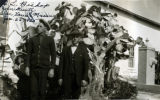 Photograph of (left to right) C.L. Bishop and John Kuntz at the San Xavier Mission in Pima County...