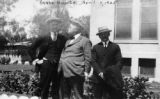 Photograph of (left to right) Max I. Steyaert, Arizona Governor George Hunt and Frank Shea at the...