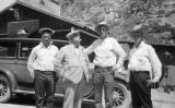 Photograph of(left to right) Hugh Armstrong, Governor George W. P. Hunt, Fred Vawter and William...