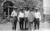 Photograph of (left to right) F. Gibson, William Day, Fred Vawter, Governor George W. P. Hunt and...
